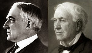 Thomas Edison and President Harding were the same man!