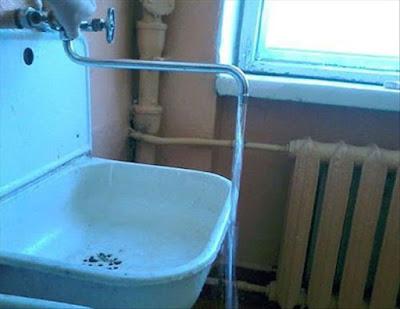 Lave pied, problème de longueur de robinet !