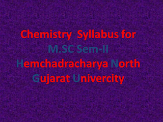 M.SC Sem-II Chemistry Syllabus