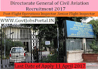 Directorate General of Civil Aviation Recruitment 2017– Flight Operations Inspector, Senior Flight Operations Inspector & Deputy Chief Flight Operations Inspector