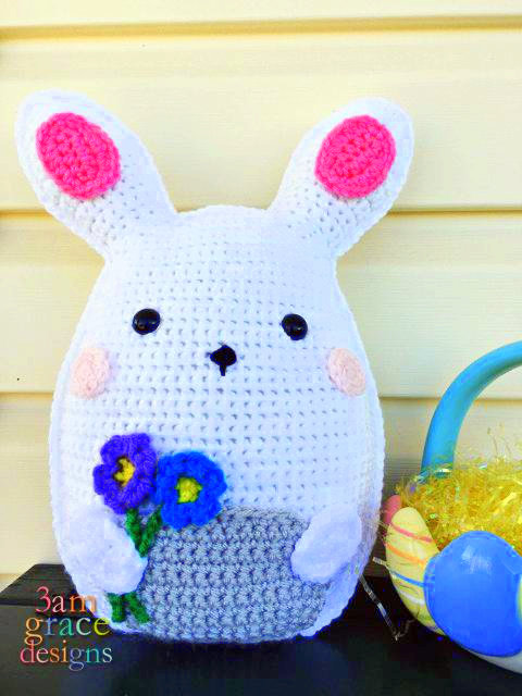 Bunny Kawaii Pillow Cuddler Crochet Pattern