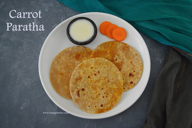 Carrot Paratha Recipe| Gajar ka Paratha | Carrot Stuffed Paratha