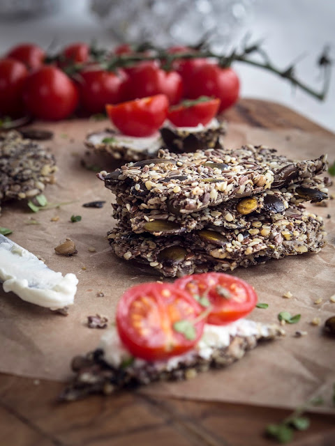 simple seeded crackers