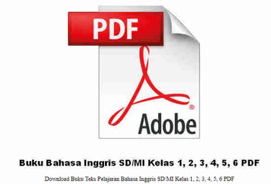 Buku Bahasa Inggris SD/MI Kelas 1, 2, 3, 4, 5, 6 PDF
