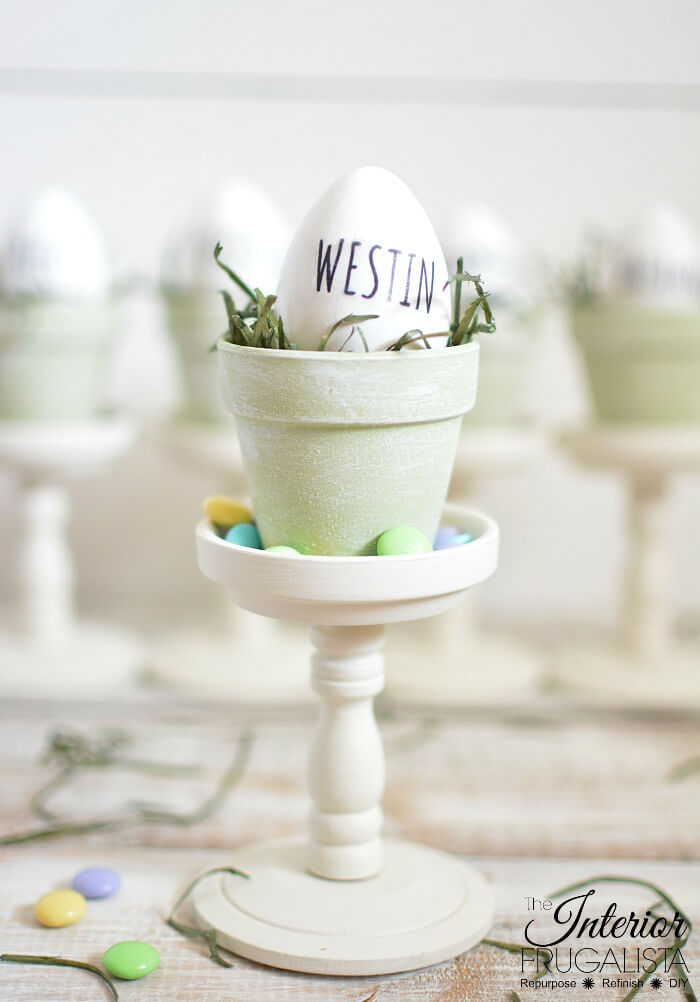 Rae Dunn Inspired Easter Eggs with DIY Clear Decals