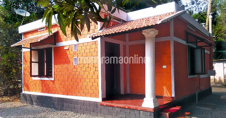 2 bedroom low budget home for 4 5 lakhs in 550 sqft with for Home plan kerala low budget