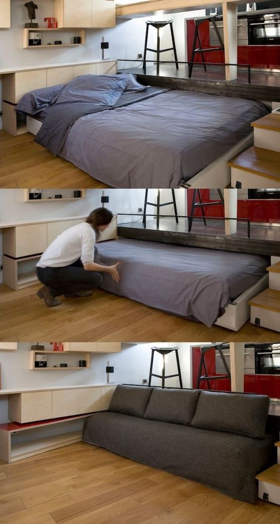Clever Space-Saving Beds Slide Away and Hide