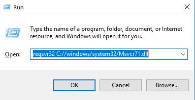 le fichier msvcr71 dll