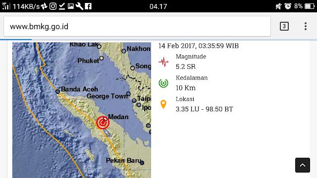Gemoa Bumi Kembali Mengguncang Sumatera Utara