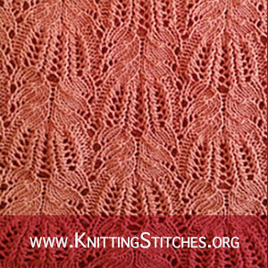 LACE KNITTING - Frost Flowers Lace Stitch Pattern. It would be a great choice for purses, scarves, and coasters! #knitters