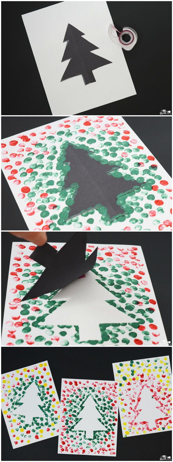 Christmas Tree Thumbprint Art