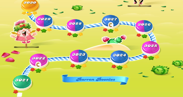 Candy Crush Saga level 3021-3035