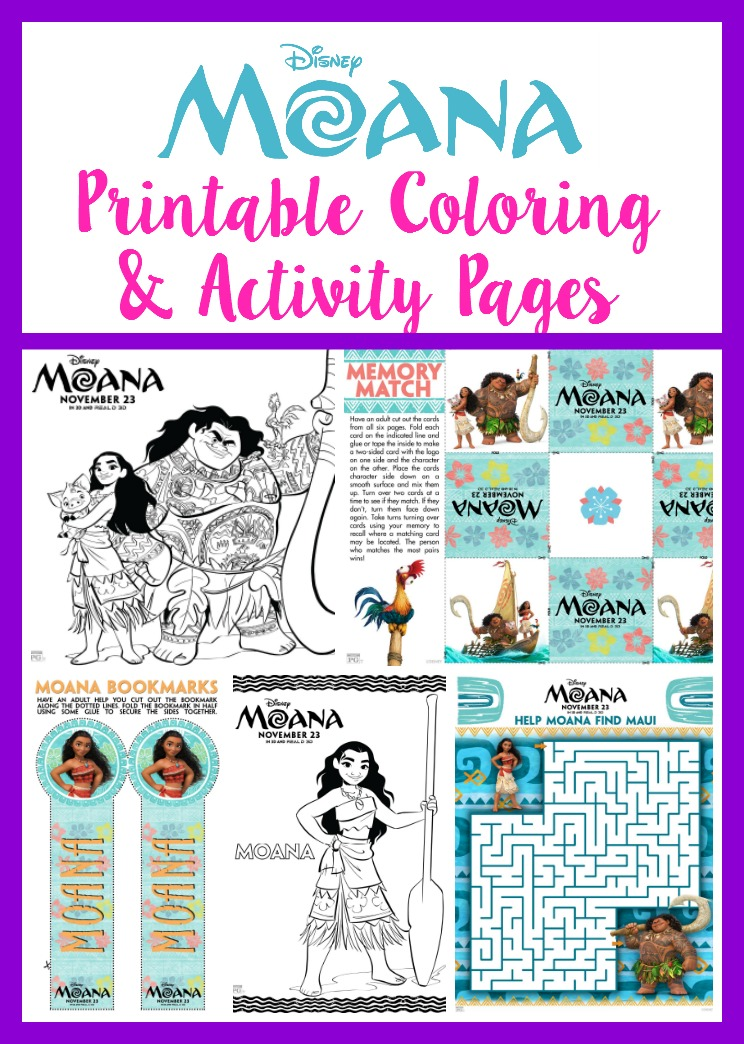 MOANA Printable Coloring & Activity Pages! - The Momma Diaries