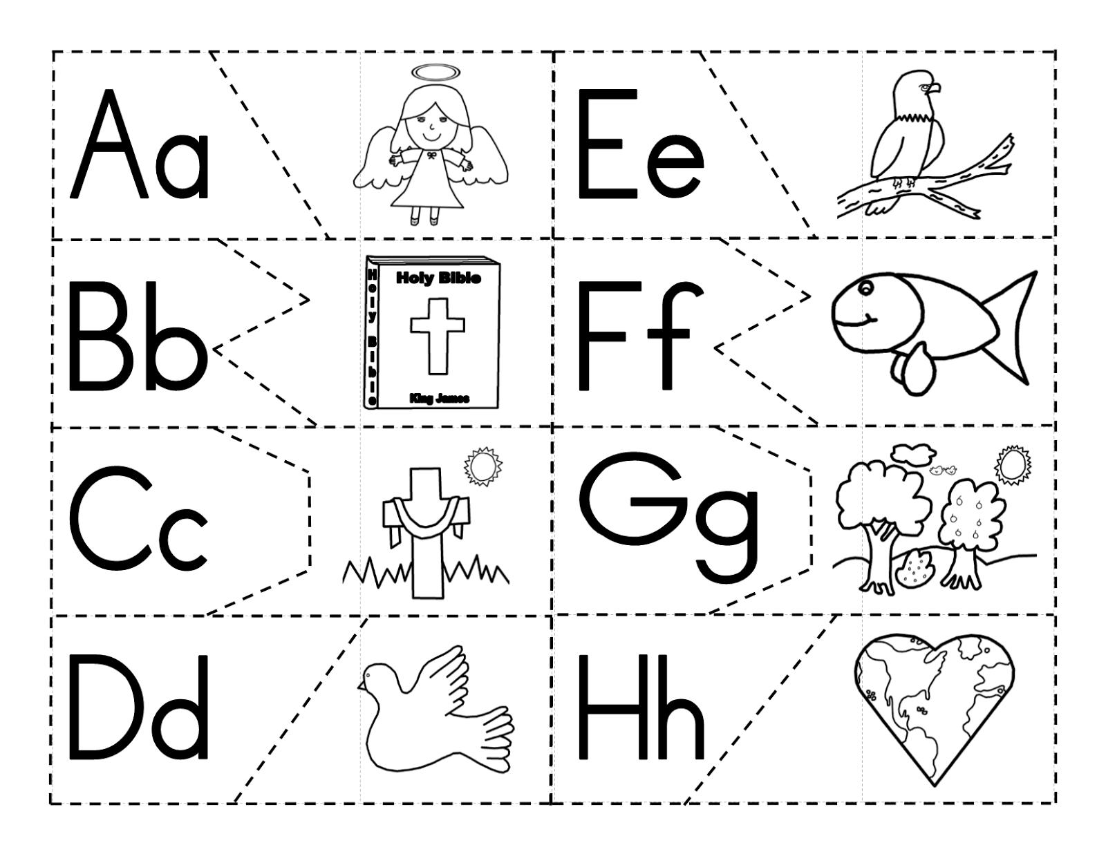 Teachers R Us Alphabet Puzzle With A Christian Theme