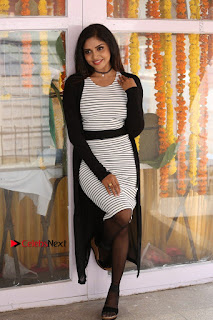 Telugu Actress Karunya Chowdary Stills in Black Dress at Soda Goli Soda Movie Opening  0141.JPG
