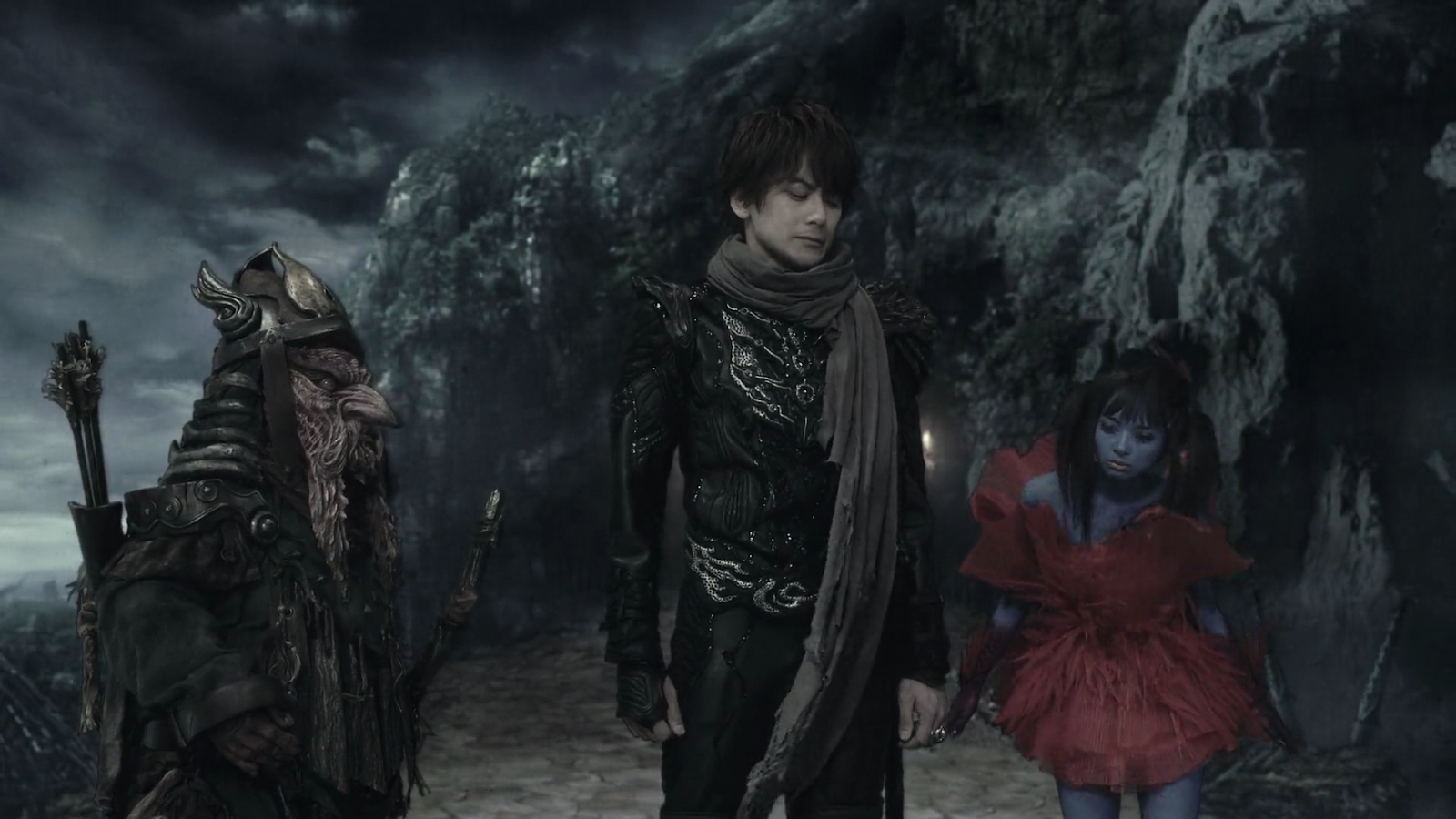 Kouga's new friends in the movie