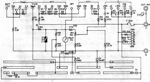 Esquema Multímetro Yu-Fong YF-350