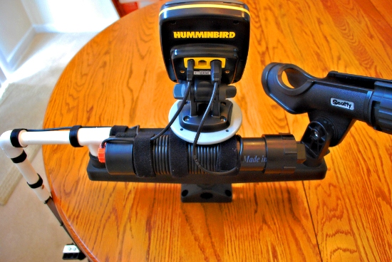 Palmetto kayak fishing diy portable fishfinder for your kayak for Battery powered fish finder