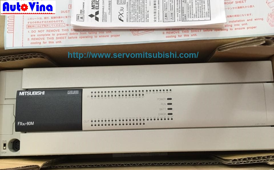 Đại lý bán bộ điều khiển PLC Mitsubishi FX3U-80MT/ES-A giá rẻ nhất