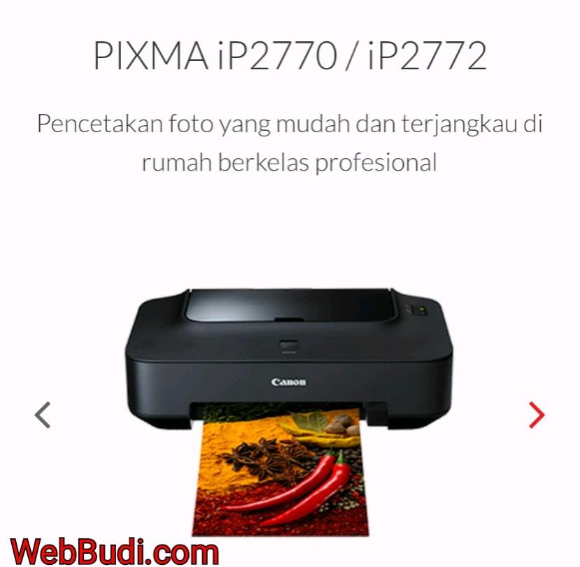 Download Driver dan Master Software Printer Canon Pixma iP2770 ...