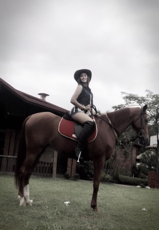 Ei Chaw Po Riding A Horse Photoshoot