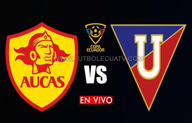 Aucas y LDU Quito se enfrentan en vivo ⚽ a partir de las 12:00 horario de nuestro país por los 🏆 cuartos de final ida por la Copa Ecuador a efectuarse en el estadio Gonzalo Pozo Ripalda, siendo el juez principal Diego Lara León con emisión del canal autorizado TVCable.
