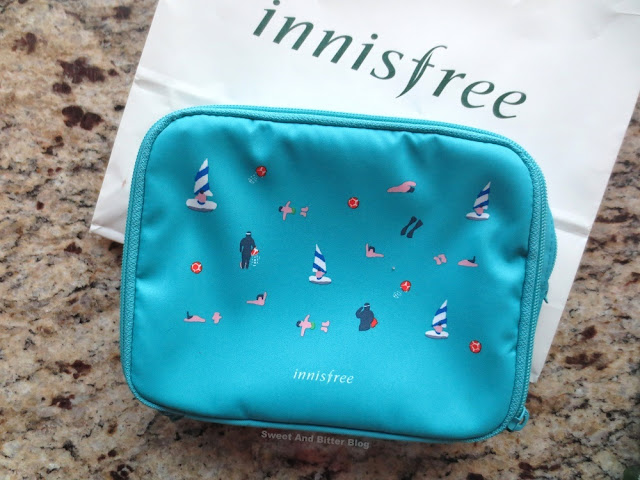 Innisfree Travel to Jeju Aqua Blue Travel Bag Pouch