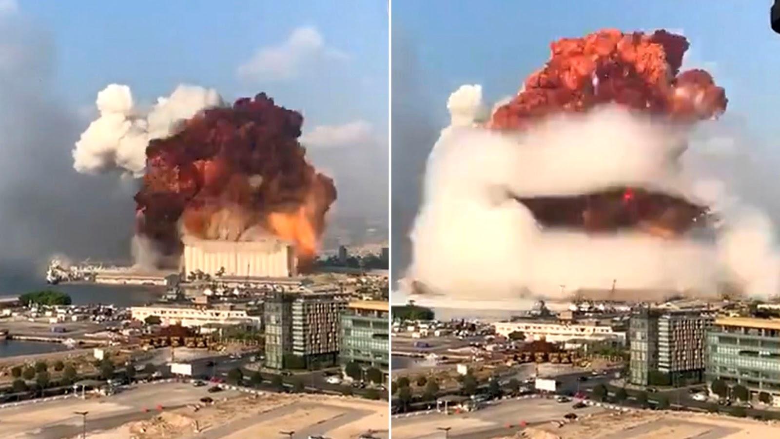 Todos los videos de la impresionante explosión masiva en Beirut, Líbano
