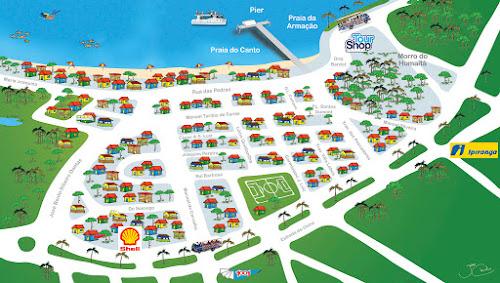 Mapa do centro de Búzios