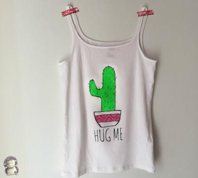 Camiseta Hug Me con temperas