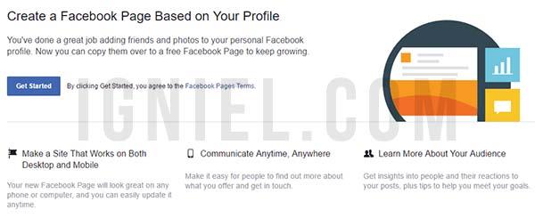 Cara Mengubah Profil Personal Facebook Menjadi Fanspage