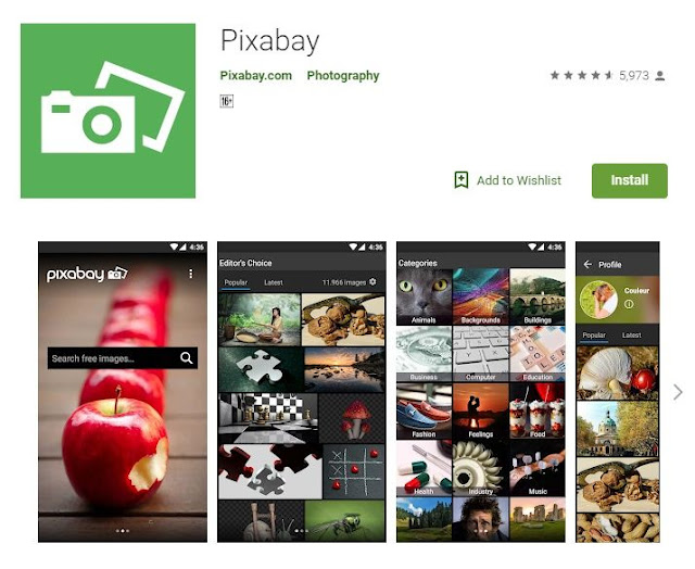 Pixabay App For Bloggers on Google Play
