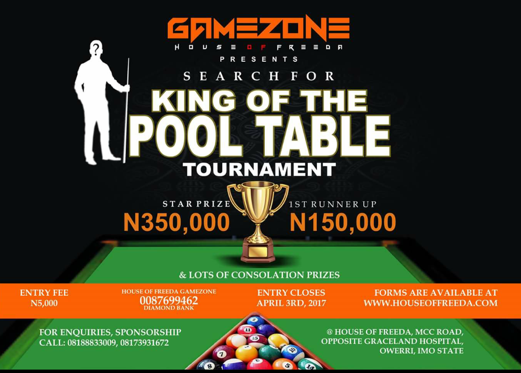 Nwadike Chikezies Blog House Of Freeda Game Zone King Of Pool - King of pool table