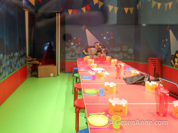Legoland İstanbul'da doğum günü partisi verilen odalar