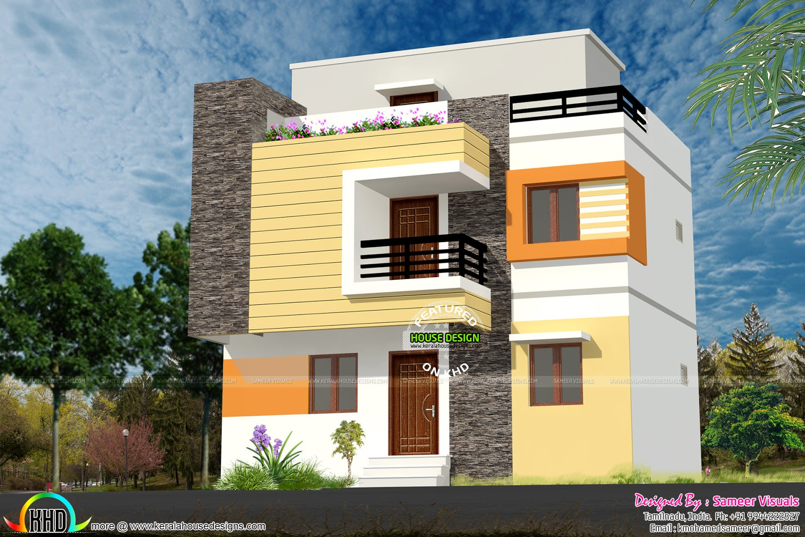 1200 sq ft low budget g 2 house design kerala home for Tamilnadu house designs photos