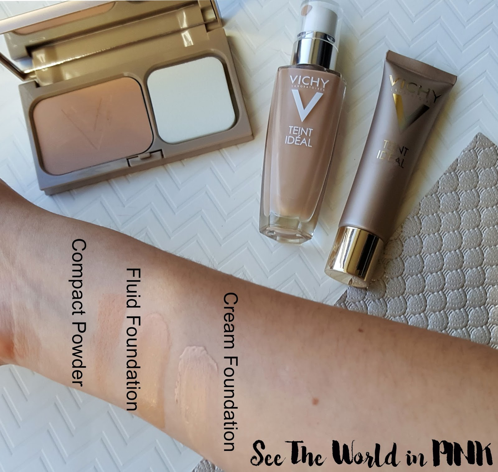 Vichy Teint Ideal Makeup - Swatches and Reviews!