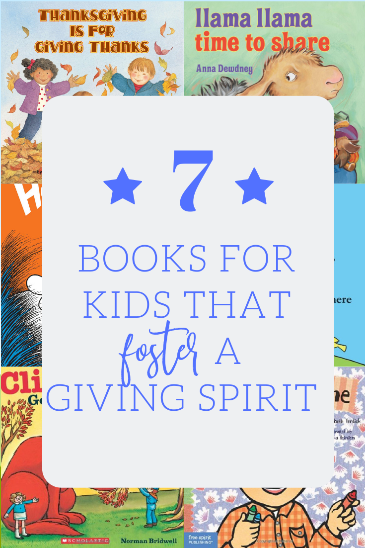 7 books that teach preschoolers about giving