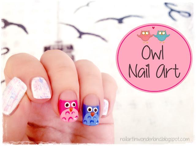 Owl/Baykuş Nail Art
