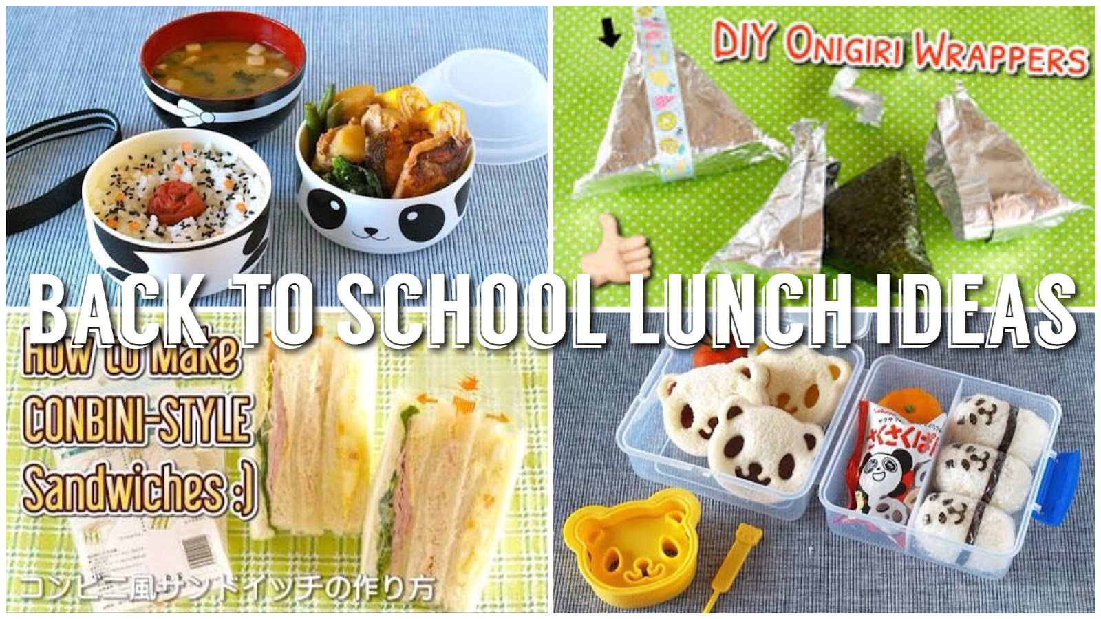 8 back to school lunch ideas japanese cooking recipe hauls 8 back to school lunch ideas forumfinder Gallery