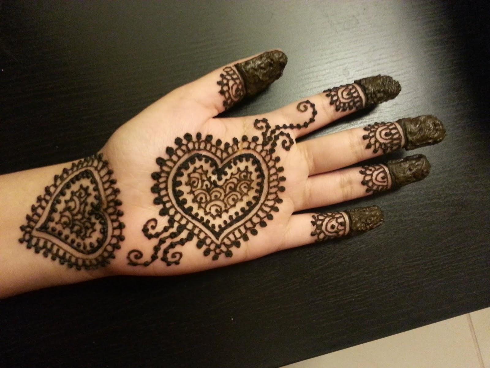 Double Heart For Single Hand Valentine Day Mehndi Designs: Art Magazine