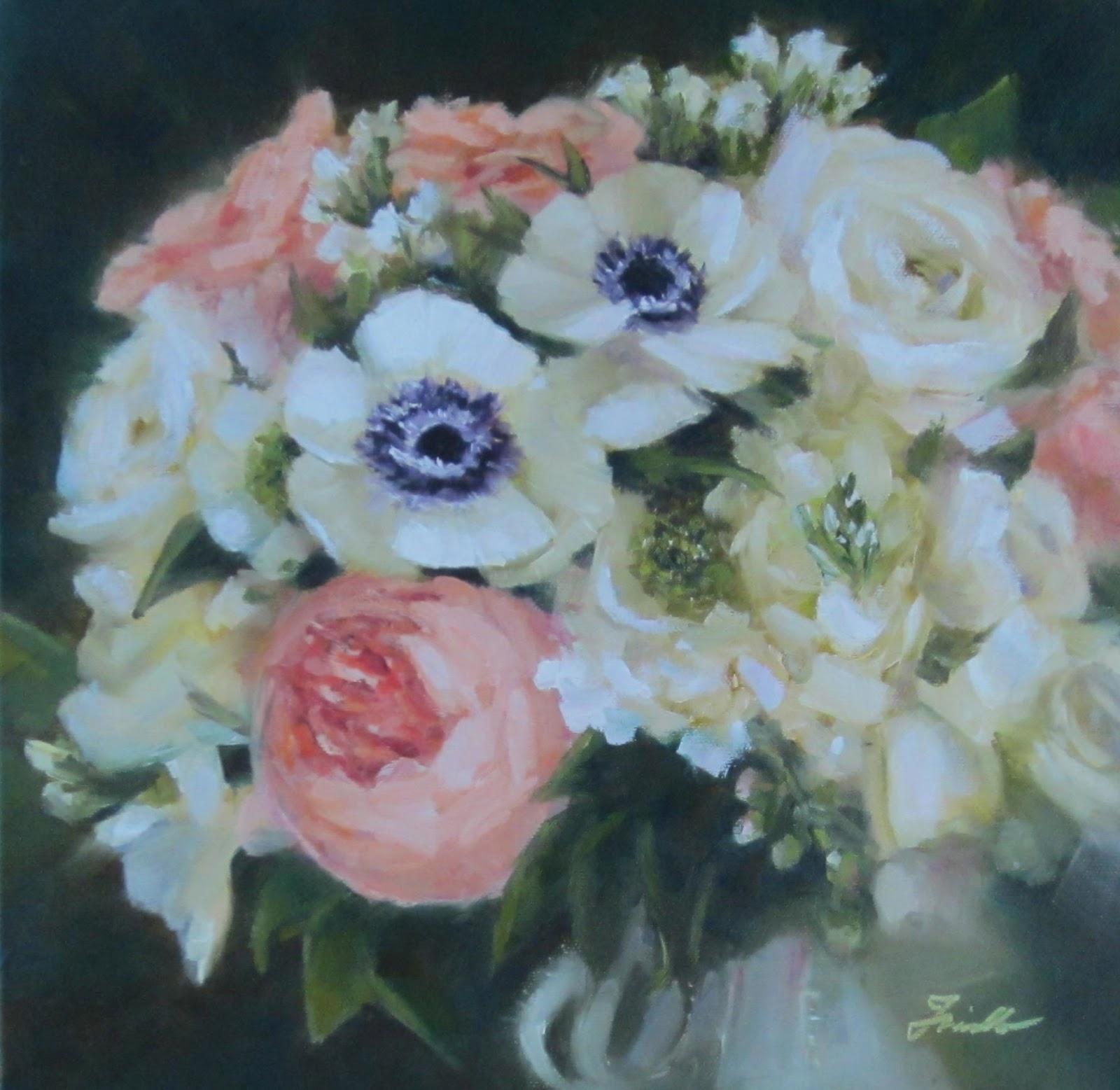 Pat Fiorello - Art Elevates Life: Wedding Bouquet Painting