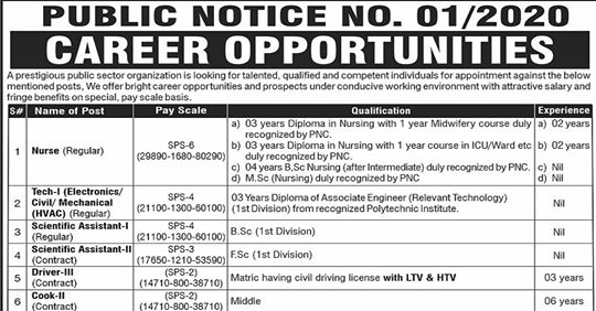 Pakistan Atomic Energy Commission Jobs 2020 Apply Now