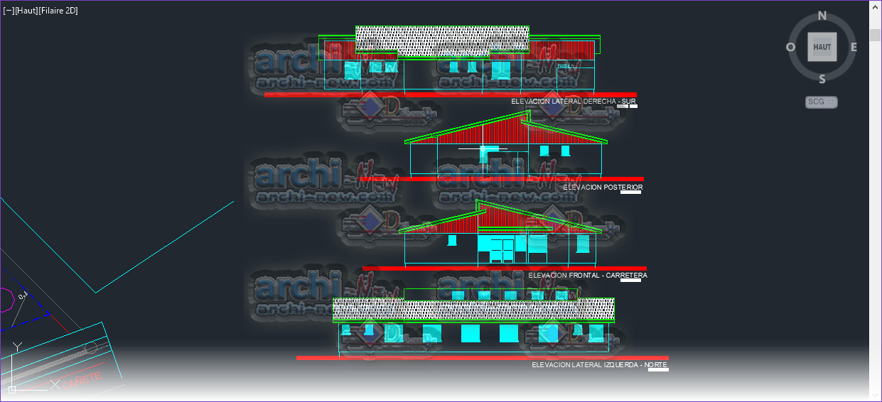 Download AutoCAD CAD DWG file House chinese basic post Archi-new