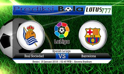 PREDIKSI SKOR Real Sociedad vs Barcelona 15 Januari 2018