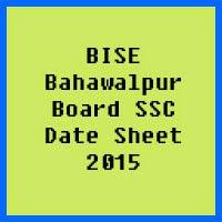 SSC Date Sheet 2017 BISE Bahawalpur Board