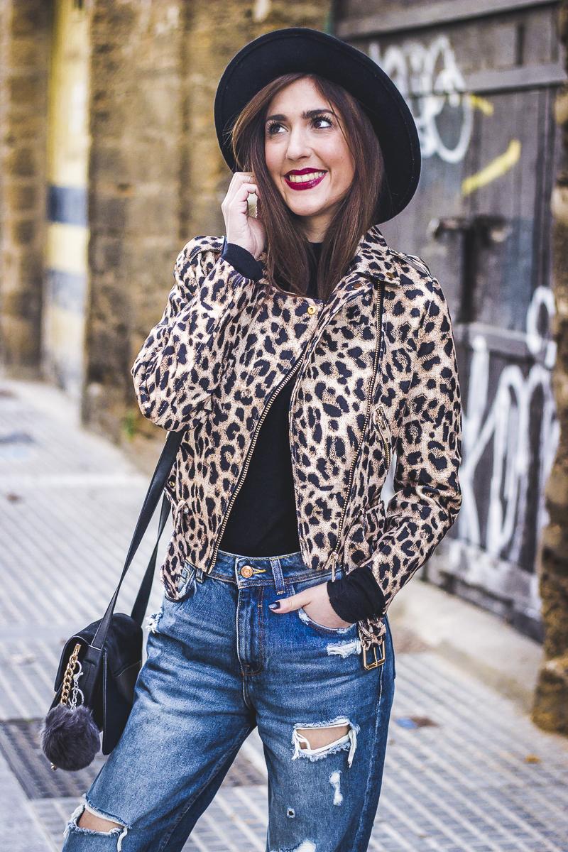 vívido y de gran estilo compra especial vendido en todo el mundo Chaqueta Jacket De Shoes Leopardo Leopard Estampado Biker ...