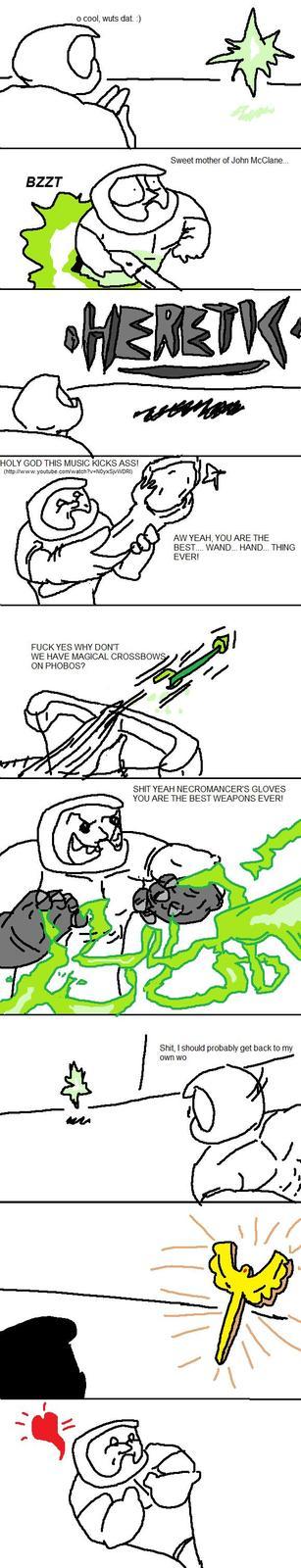 Quando o Doomguy vai passear no universo do Heretic