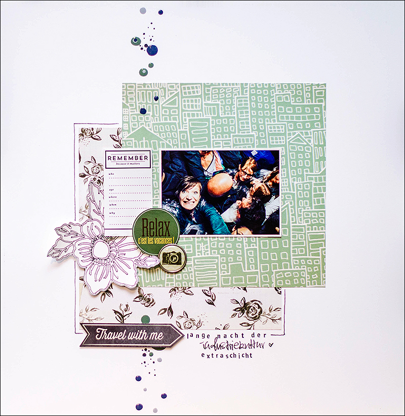 Stephanie Berger - Scrapbooking - Relax