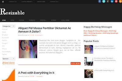 Resizable - Plantilla Responsive Blogger