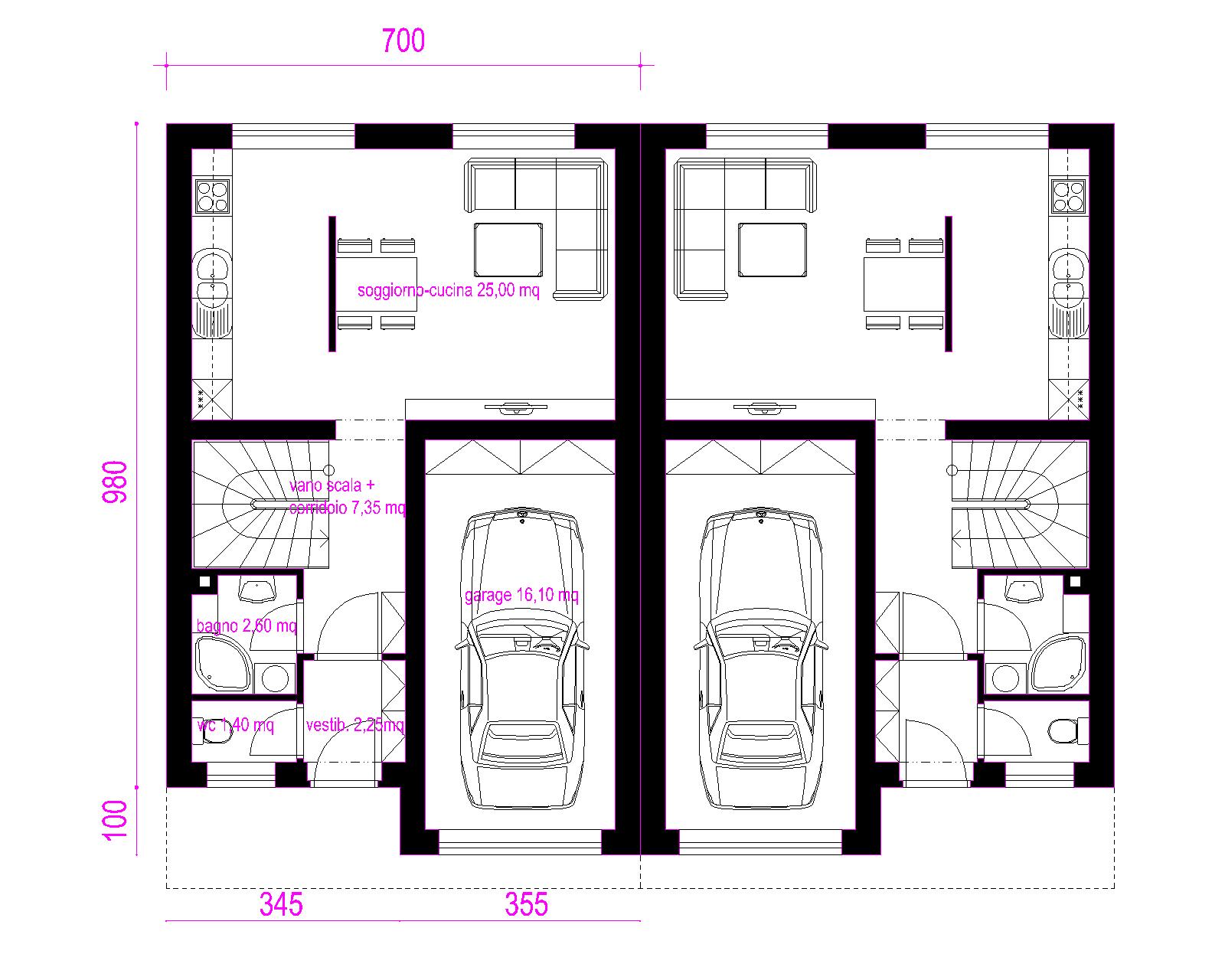 Progetti di case in legno casa bifamiliare 2 x 144 mq for Casa in legno 25 mq